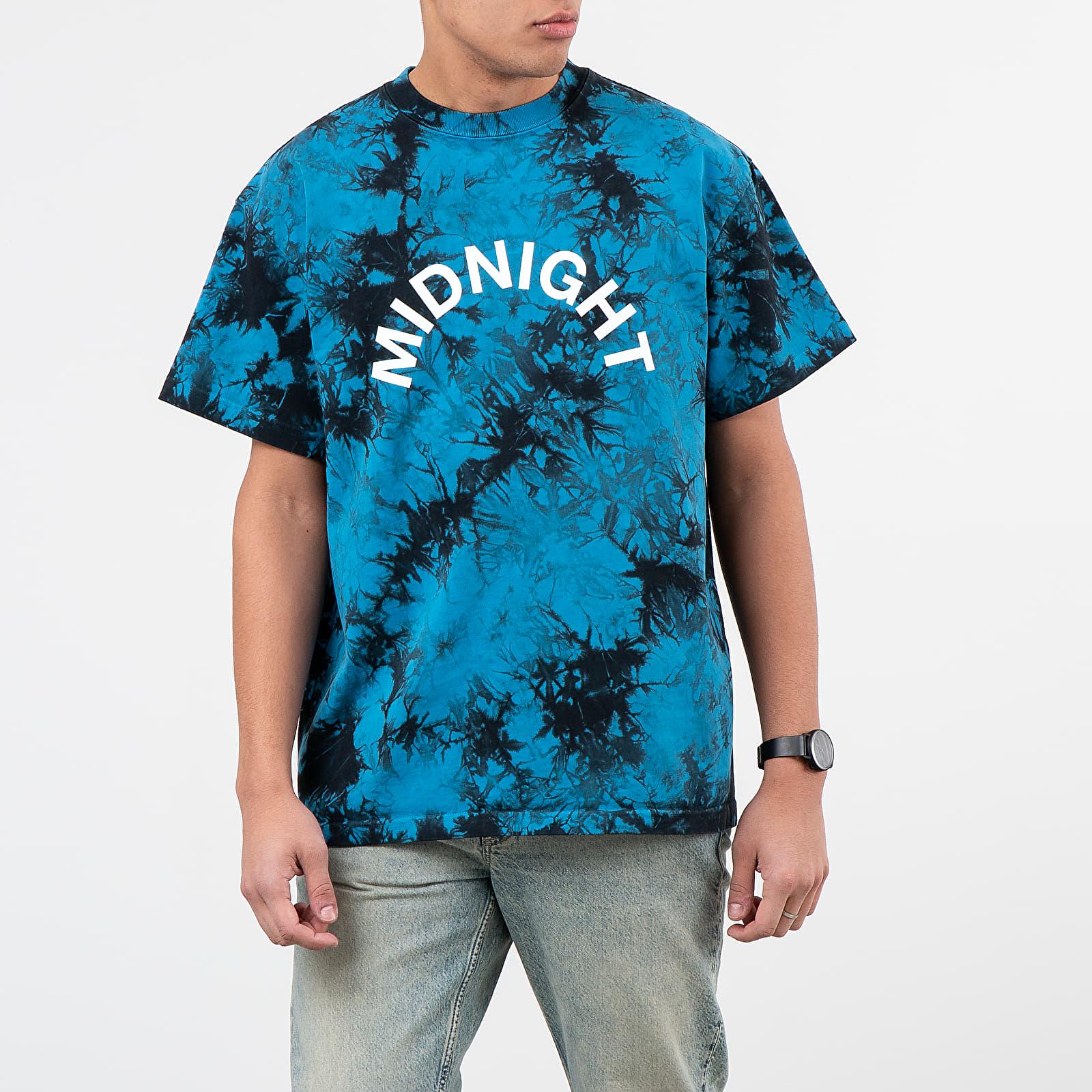 Tricouri Midnight Studios Tie-Dye Logo Tee Blue