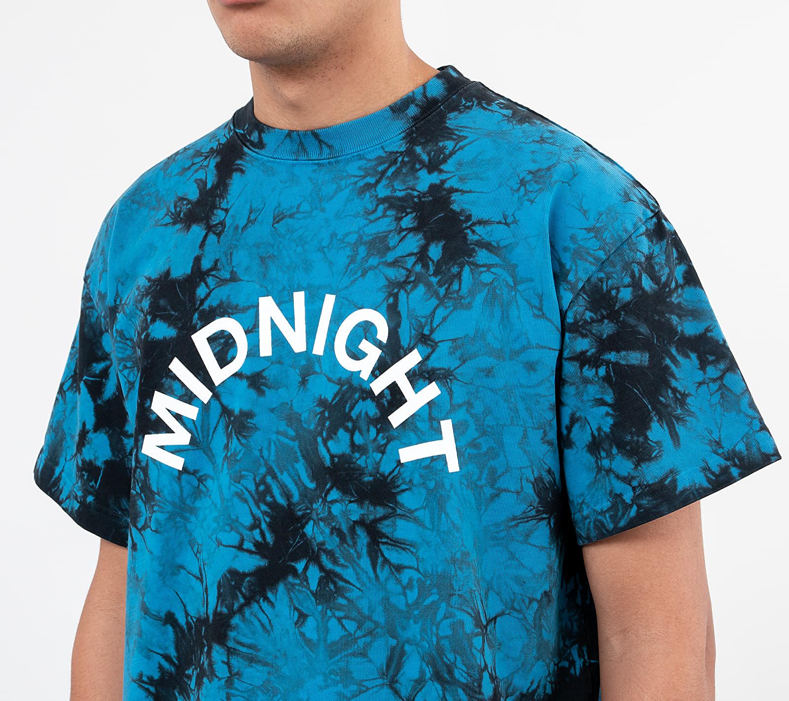 Midnight Studios Tie-Dye Logo Tee Blue