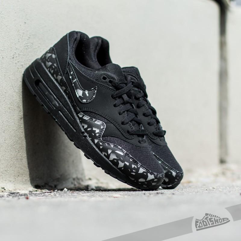 Nike Air Max 1 FB (GS) Black Black Total Orange | Footshop