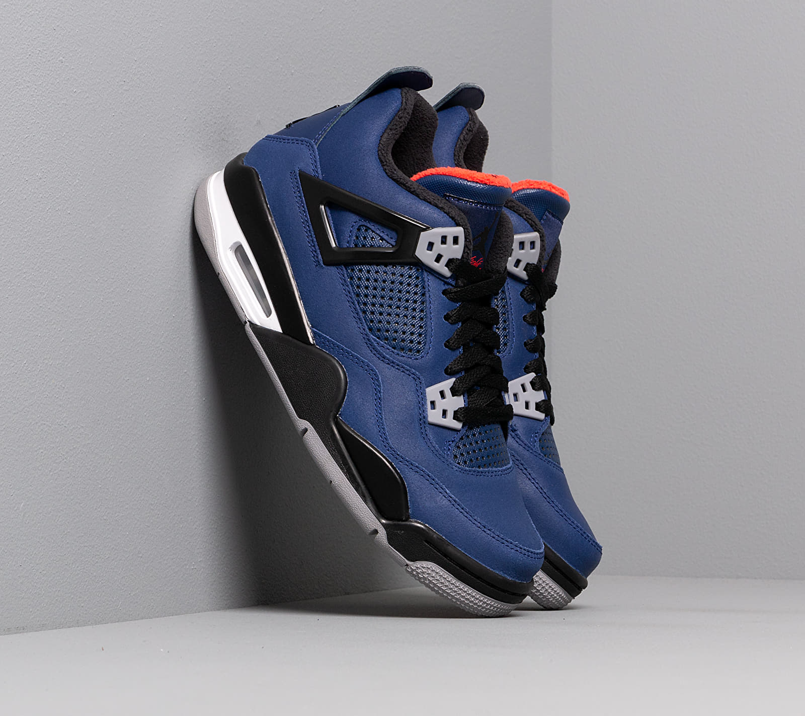 Air Jordan 4 Retro Wntr Bg Loyal Blue/ Black-White-Habanero Red EUR 38.5