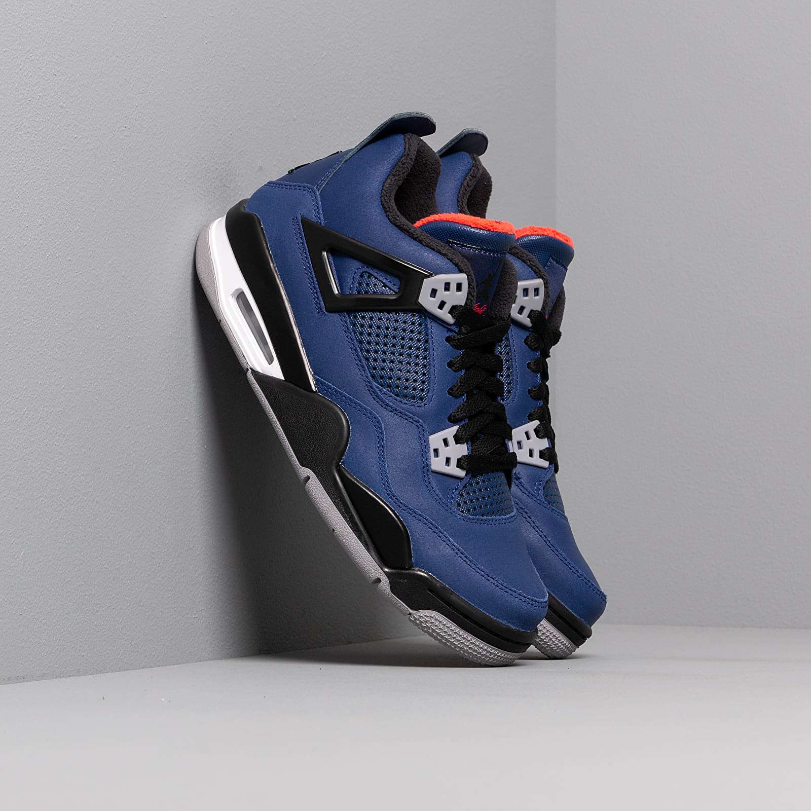 Zapatillas mujer Air Jordan 4 Retro Wntr Bg Loyal Blue/ Black-White-Habanero Red