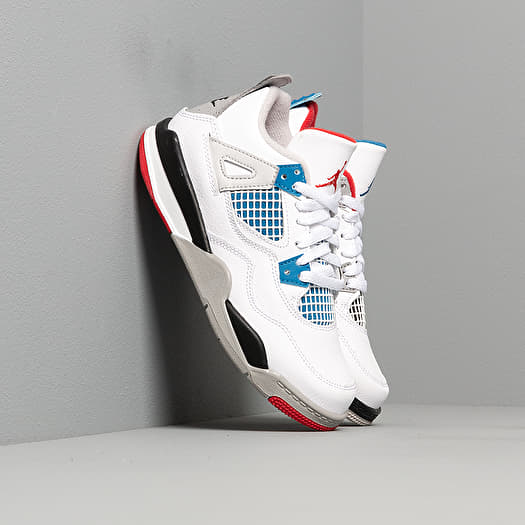 Jordan 4 Retro (PS) White Military Blue Fire Red Tech Grey | Footshop