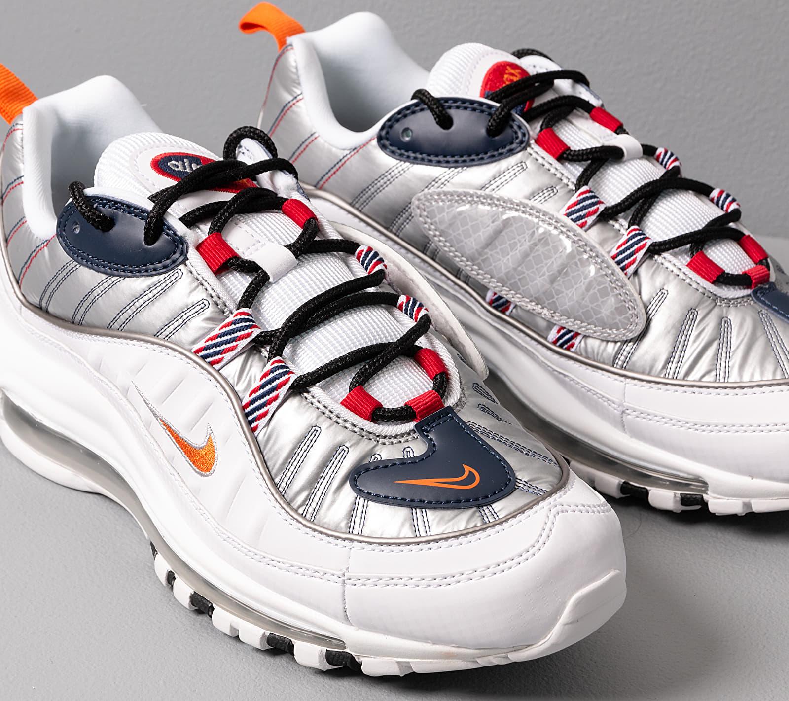 Nike W Air Max 98 Premium White/ Starfish-Wolf Grey-Gym Red