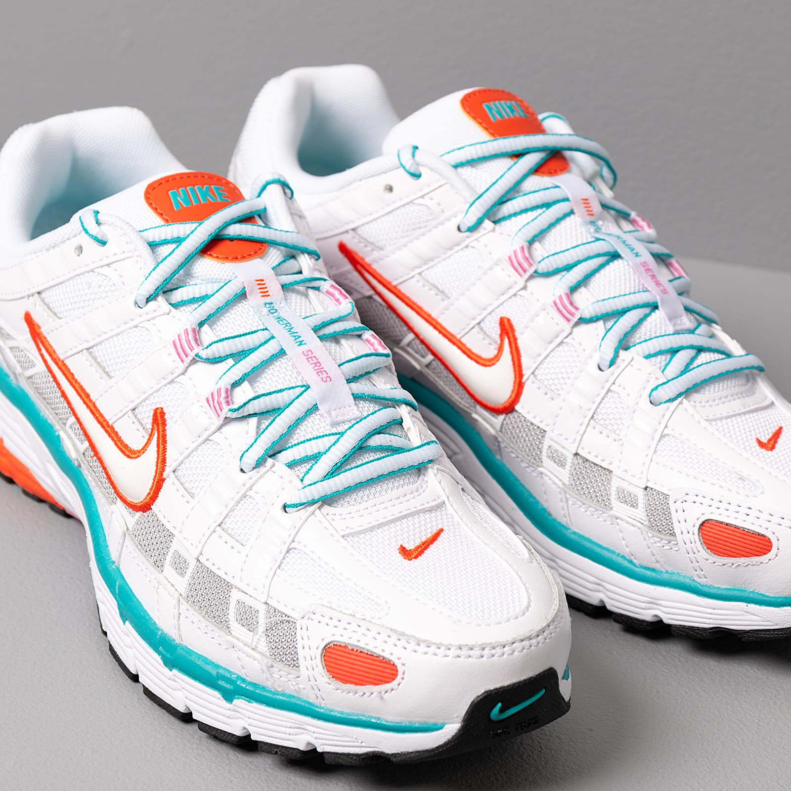Nike W P 6000 White White Oracle Aqua Magic Flamingo   Footshop