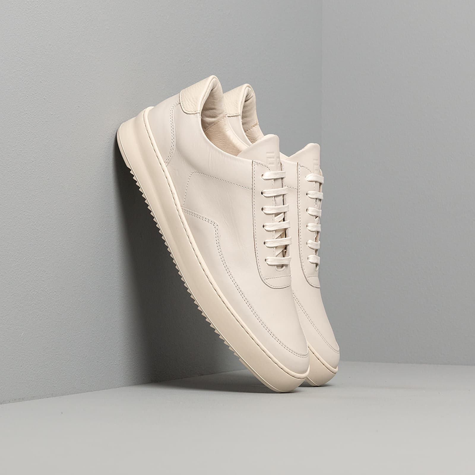 Scarpe e sneaker da uomo Filling Pieces Low Mondo Ripple Nardo Nappa All White