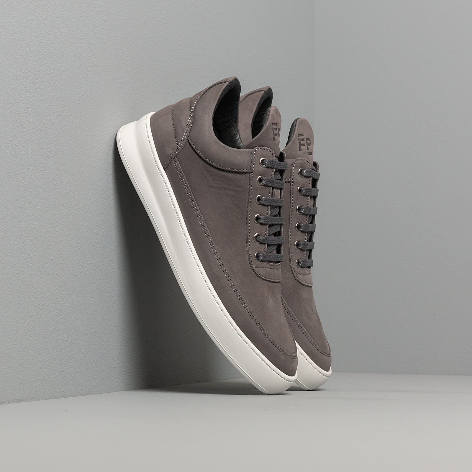 Men's shoes Filling Pieces Low Top Plain Lane Nubuck Dark Grey