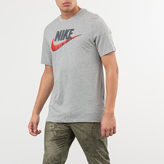 rapina aspetto Dire la verità  T-shirts Nike Sportswear Brand Mark Tee Dark Grey Heather/ Black/ Habanero  Red | Footshop