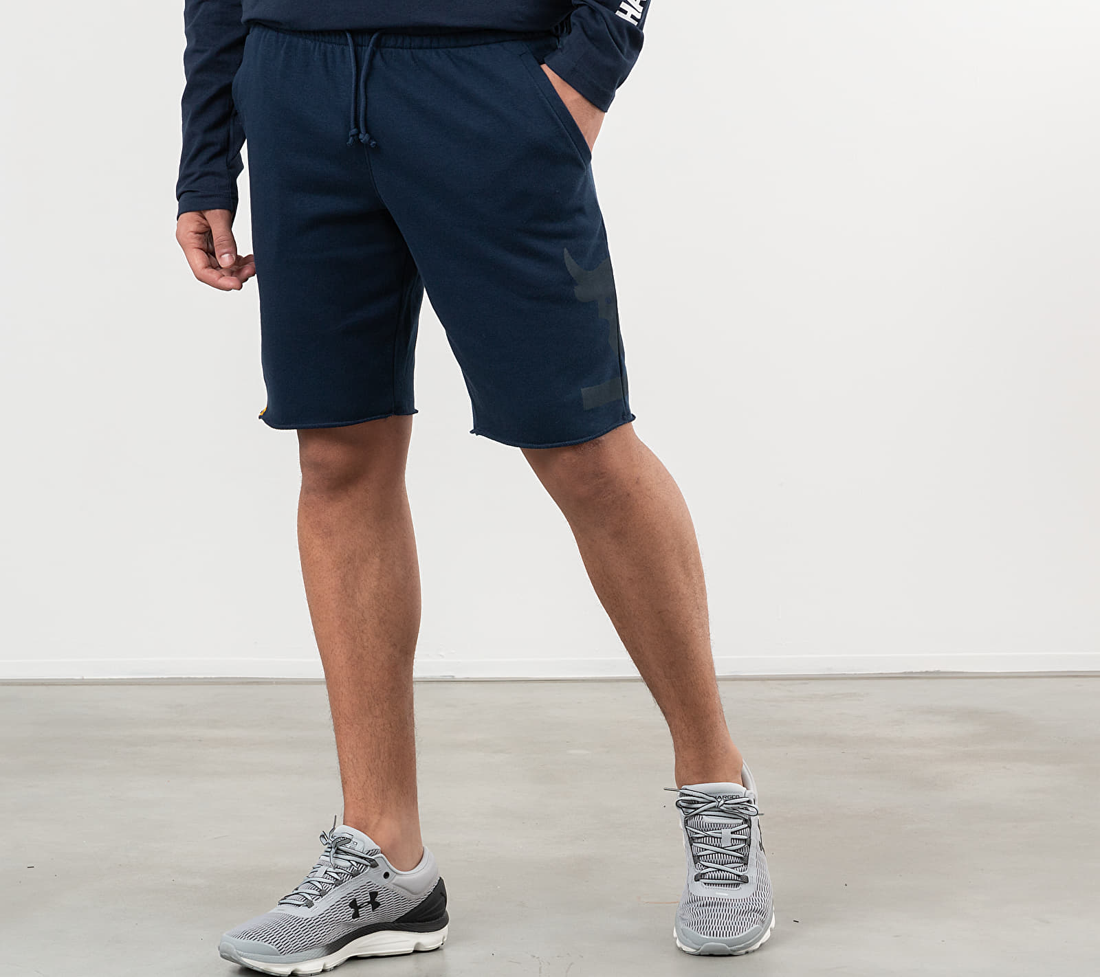 Under Armour Project Rock Terry Shorts Blue
