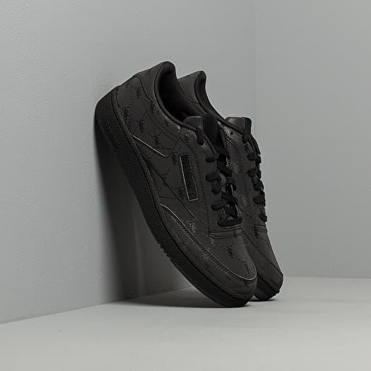 Canadá soltero Cerdito  Men's shoes Reebok x Trés Rasché Club C 85 MU Black/ Black/ Black | Footshop