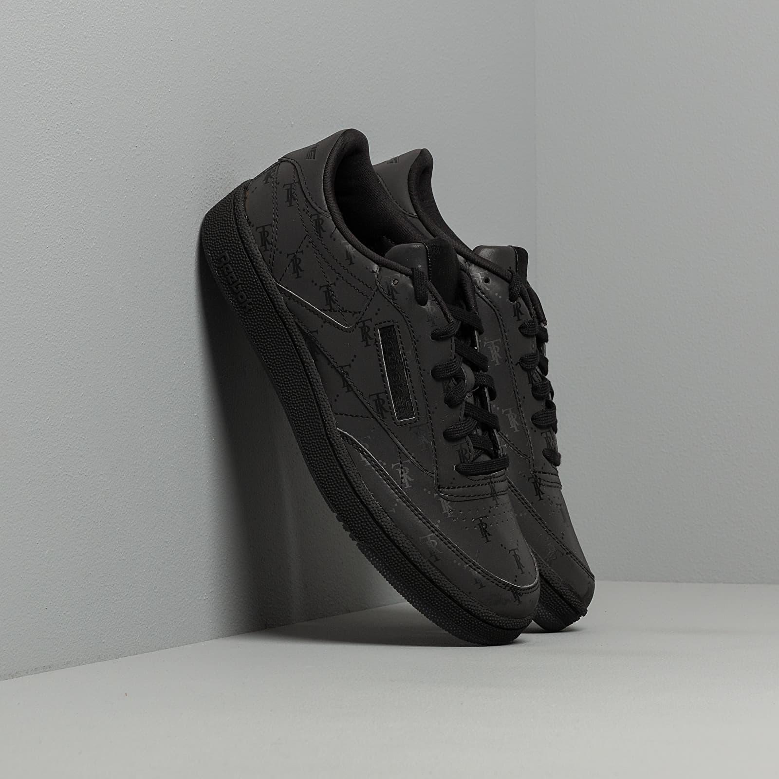 Férfi cipők Reebok x Trés Rasché Club C 85 MU Black/ Black/ Black