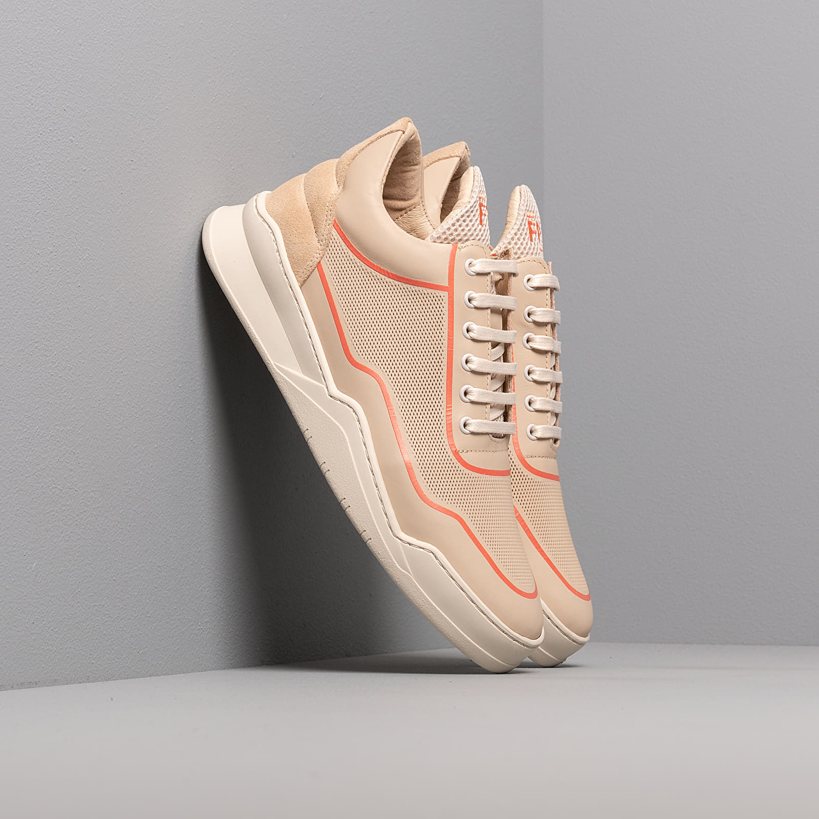 Чоловіче взуття Filling Pieces Low Top Ghost Silk Beige/ Orange