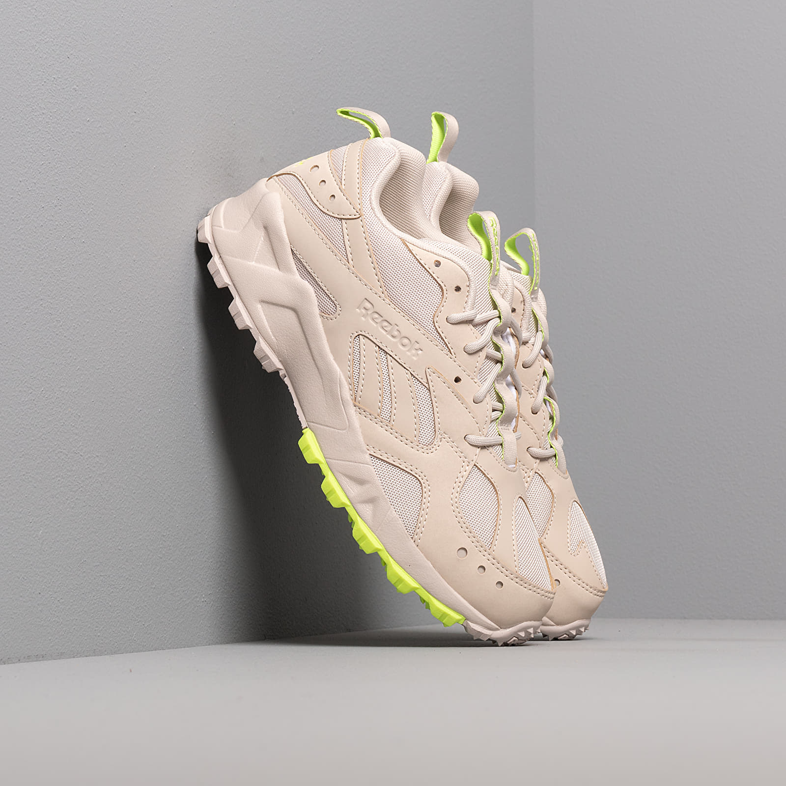 Women's shoes Reebok Aztrek 93 Trail Stucco/ Stucco/ Neon Lime