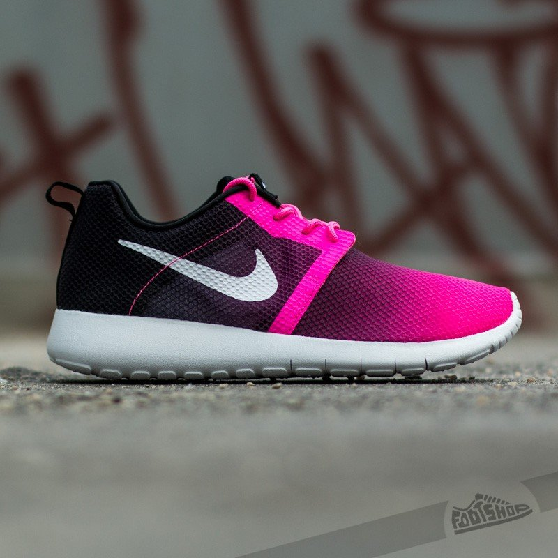 Nike Roshe One Flight Weight (GS) Pink Powder White Black