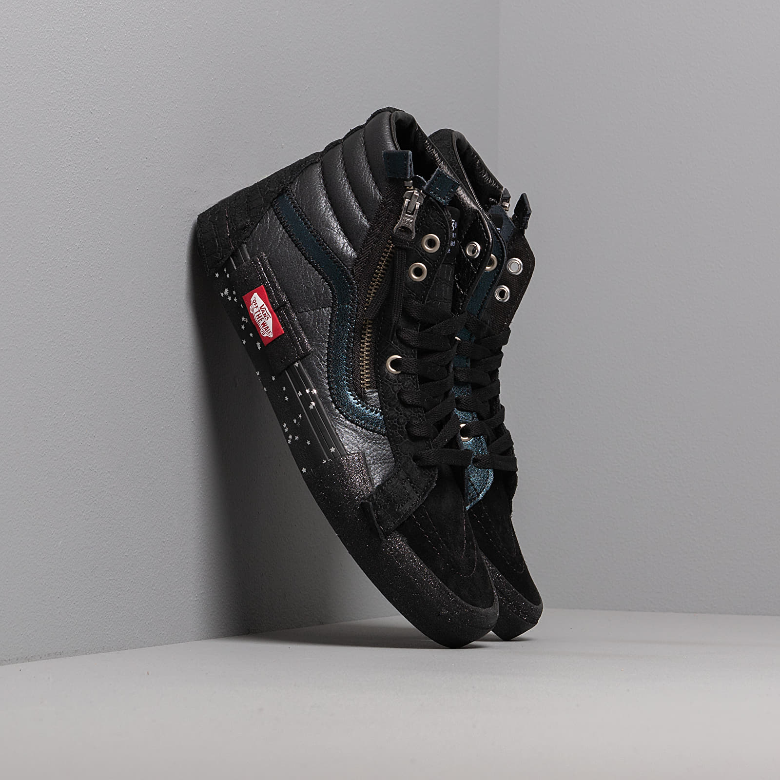 Vans SK8 Hi Reissue CAP (GLITTER MIX) Black True White | Footshop