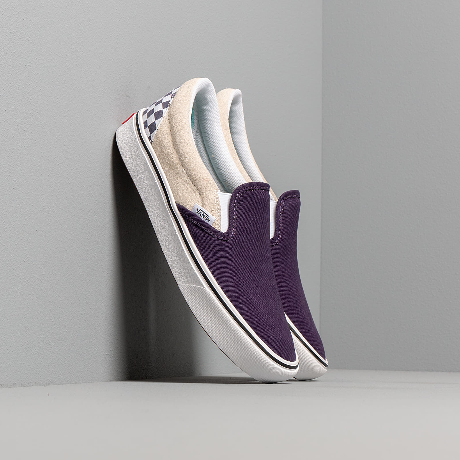Baskets Homme Vans ComfyCush Slip-On (Checkerboard) Mysterioso