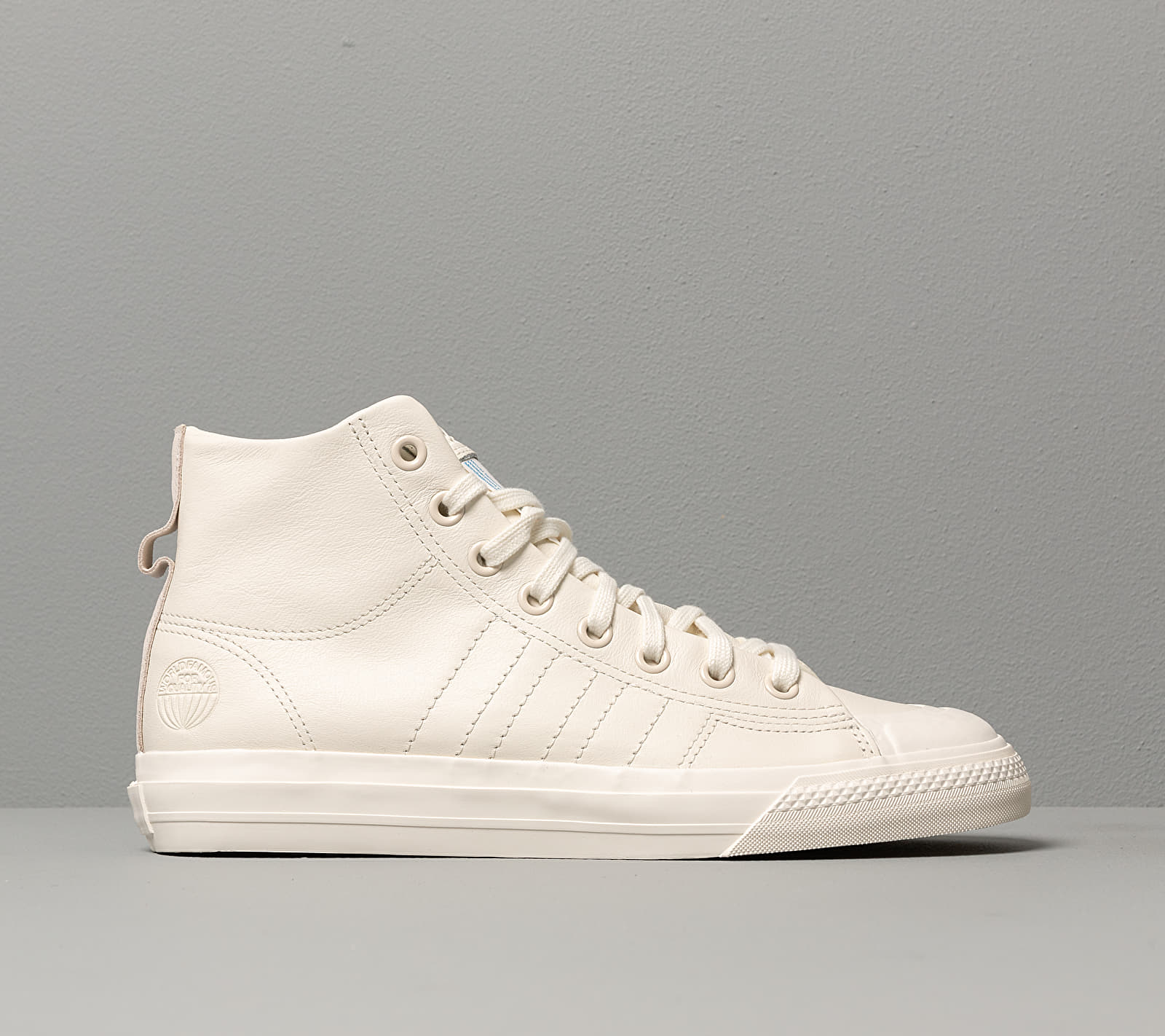 adidas Nizza Hi Rf Off White/ Off White/ Off White, Brown