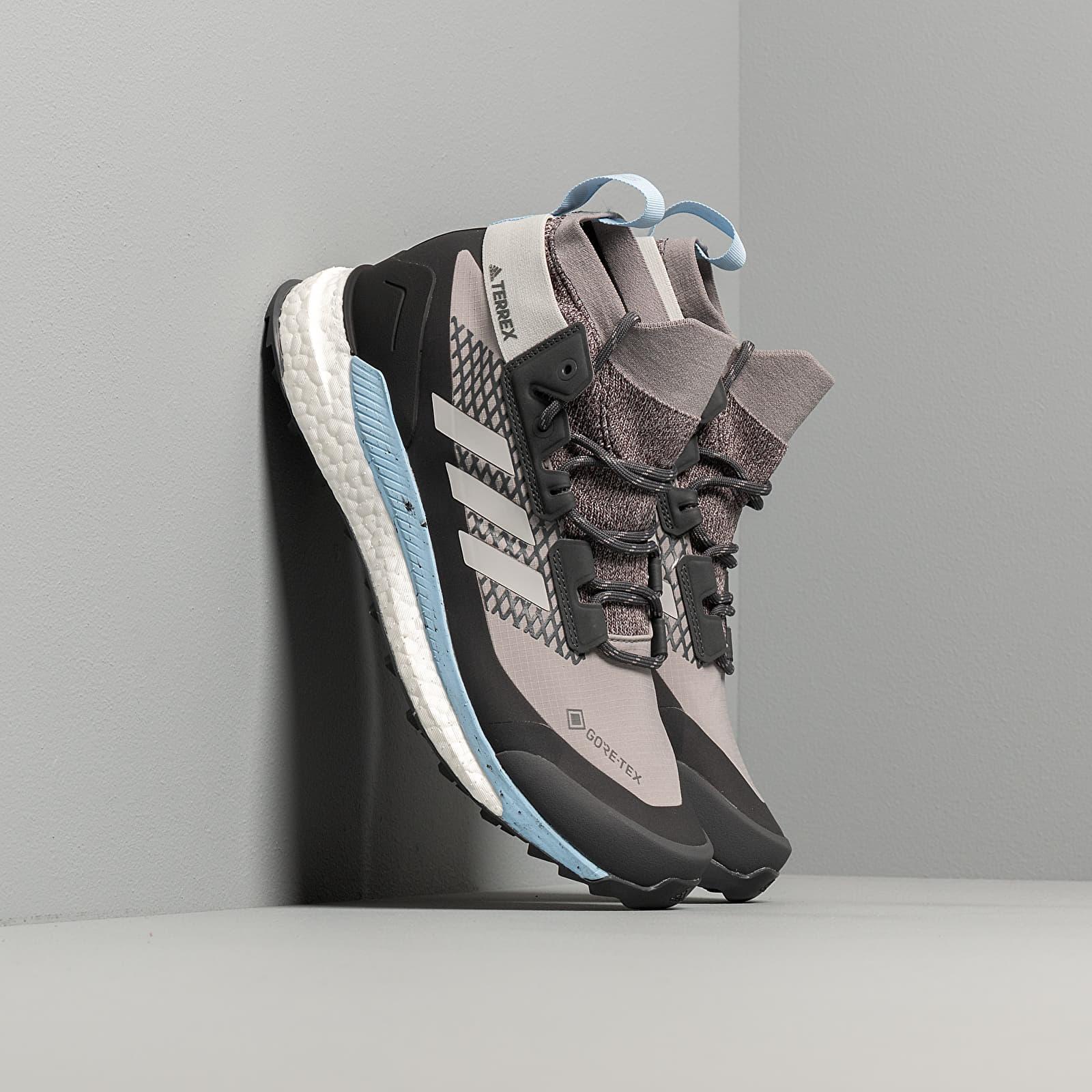 Women's shoes adidas Terrex Free Hiker GTX W Ch Solid Grey/ Grey Two/ Glow Blue