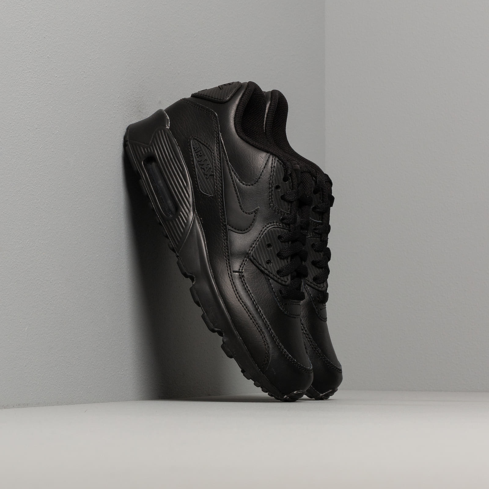 Frauen Nike Air Max 90 Leather (GS) Black/ Black