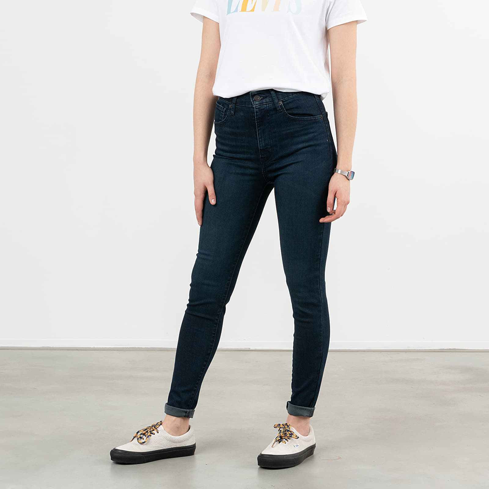 Pants and jeans Levi's Mile High Super Skinny Jeans Dark Blue