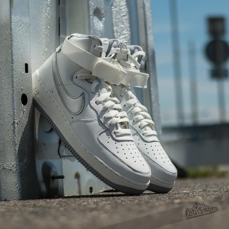 Nike Air Force 1 HI Retro QS Summit White  Wolf Grey  9c7625e7c8e6
