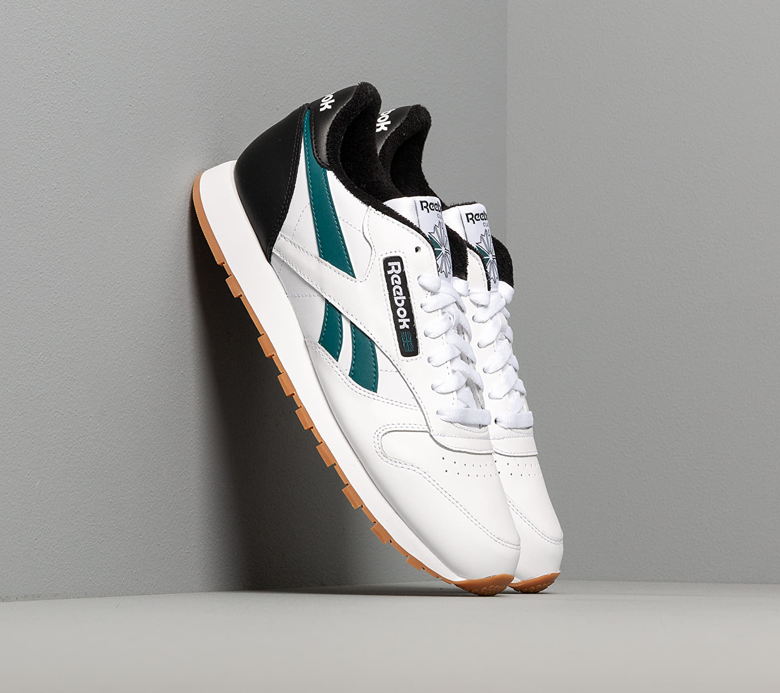 Reebok Classic Leather MU White/ Black/ Heritage Teal EUR 44.5