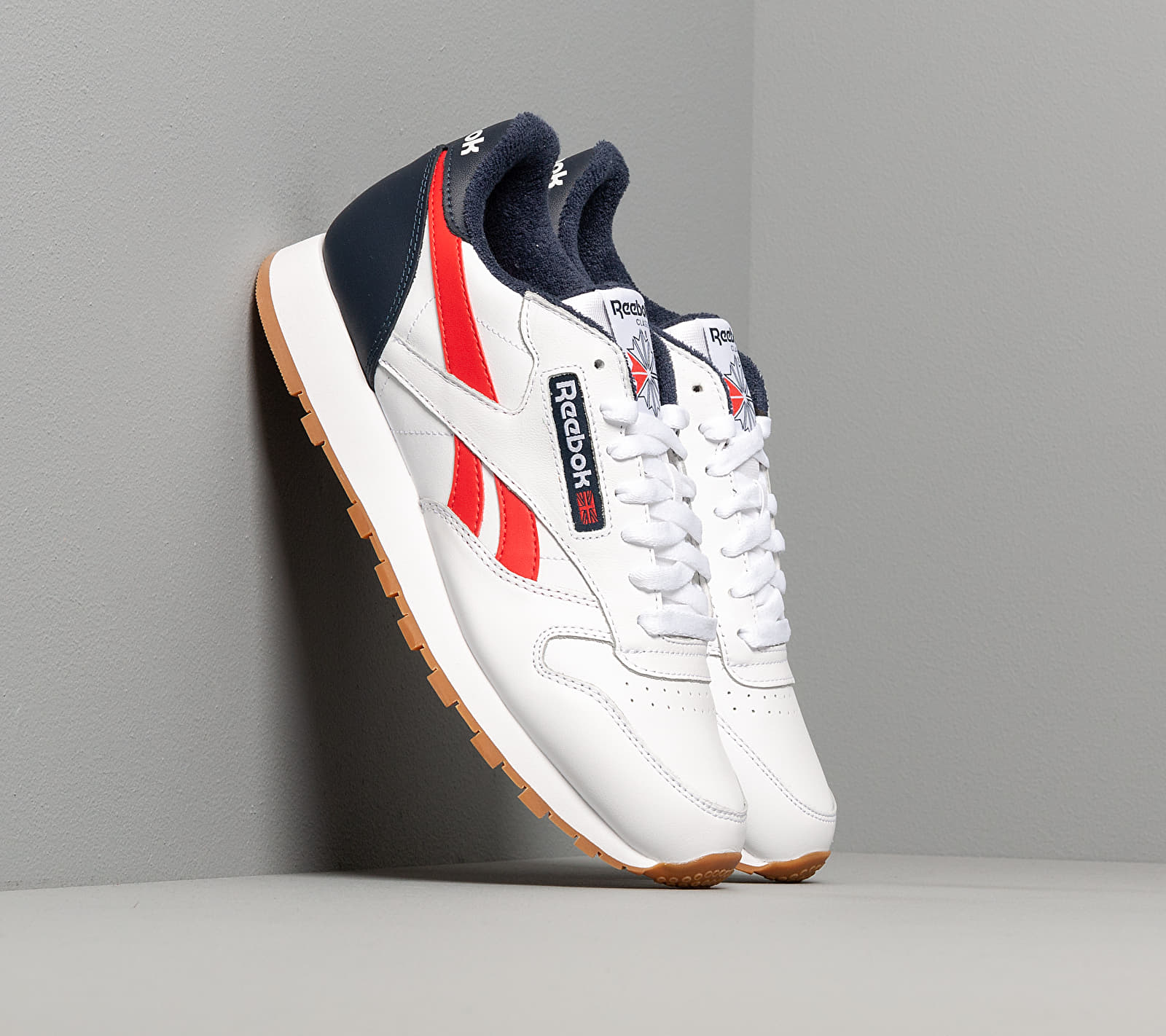 Reebok Classic Leather MU White/ Collegiate Navy/ Radiant Red EUR 45