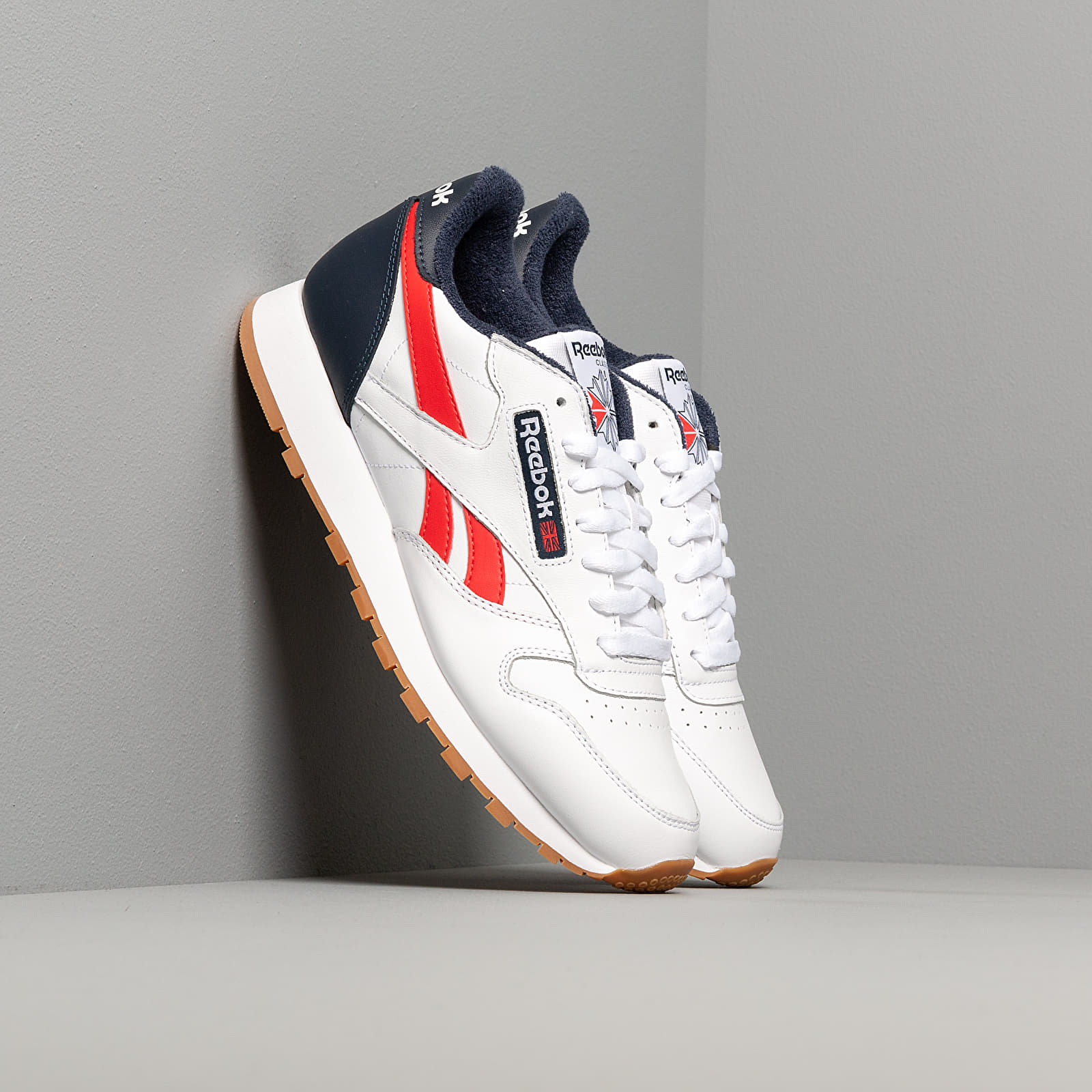 Men's shoes Reebok Classic Leather MU White/ Collegiate Navy/ Radiant Red