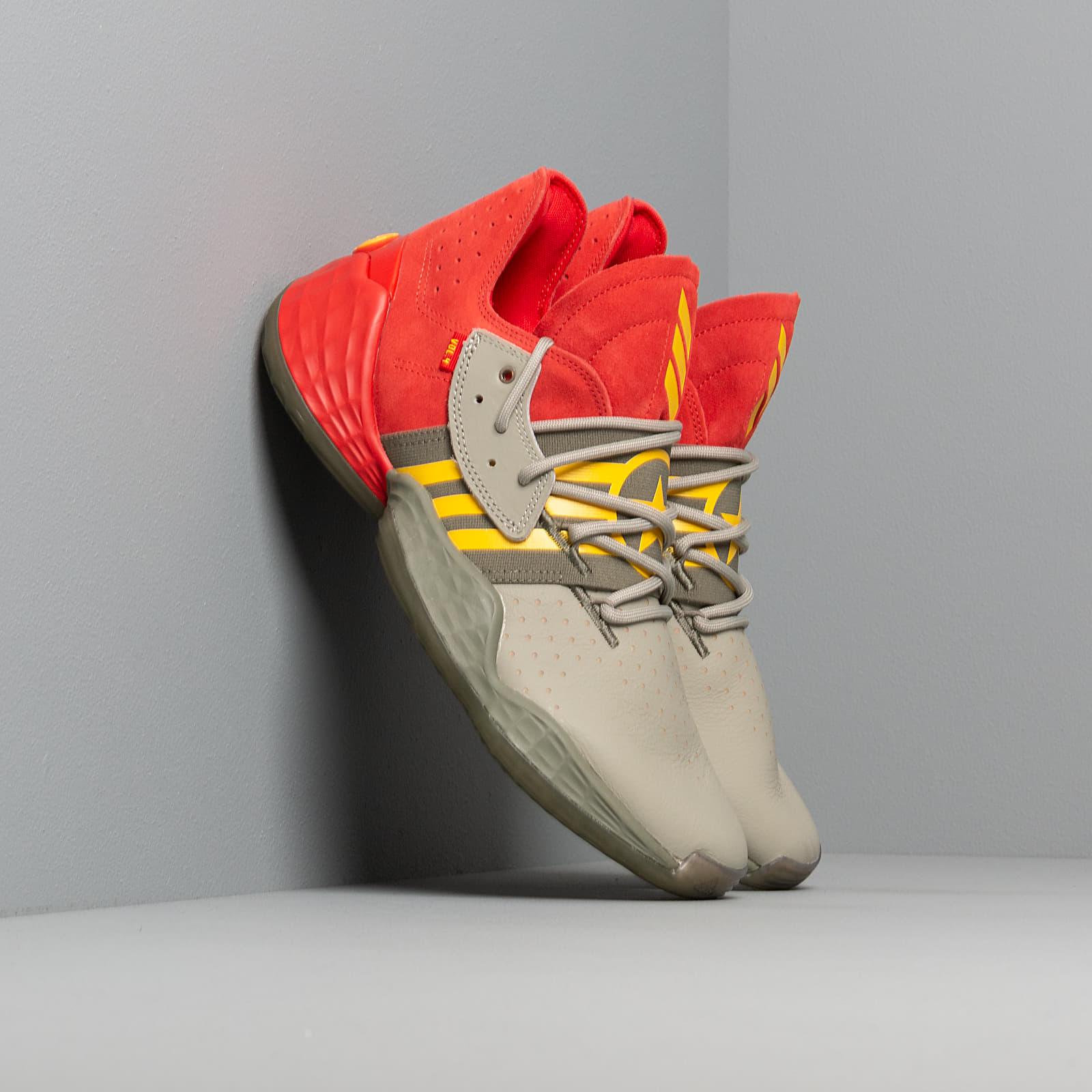 Scarpe e sneaker da uomo adidas Harden Vol. 4 Red/ Fear Grey/ Legend Green
