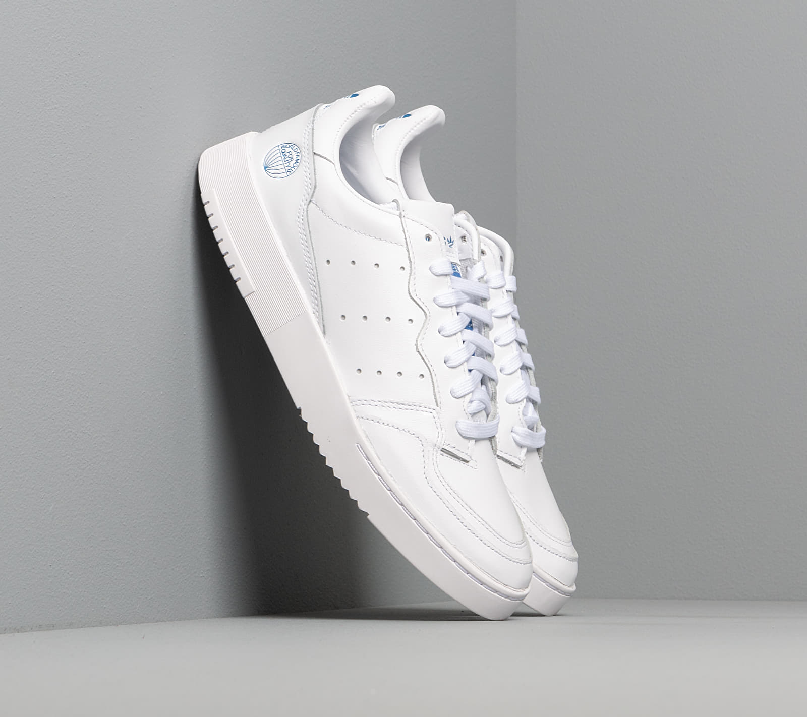 adidas Supercourt Ftw White/ Ftw White/ Blue Bird EUR 47 1/3
