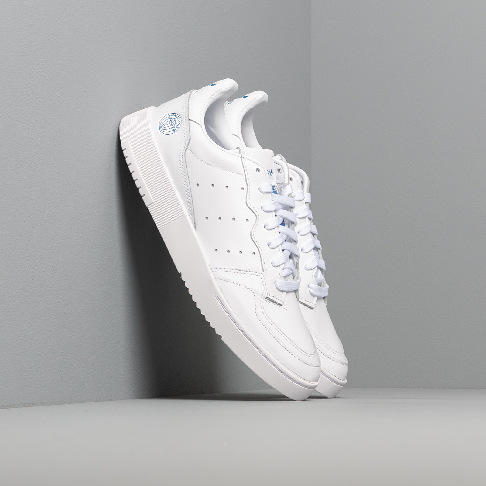 Men's shoes adidas Supercourt Ftw White/ Ftw White/ Blue Bird