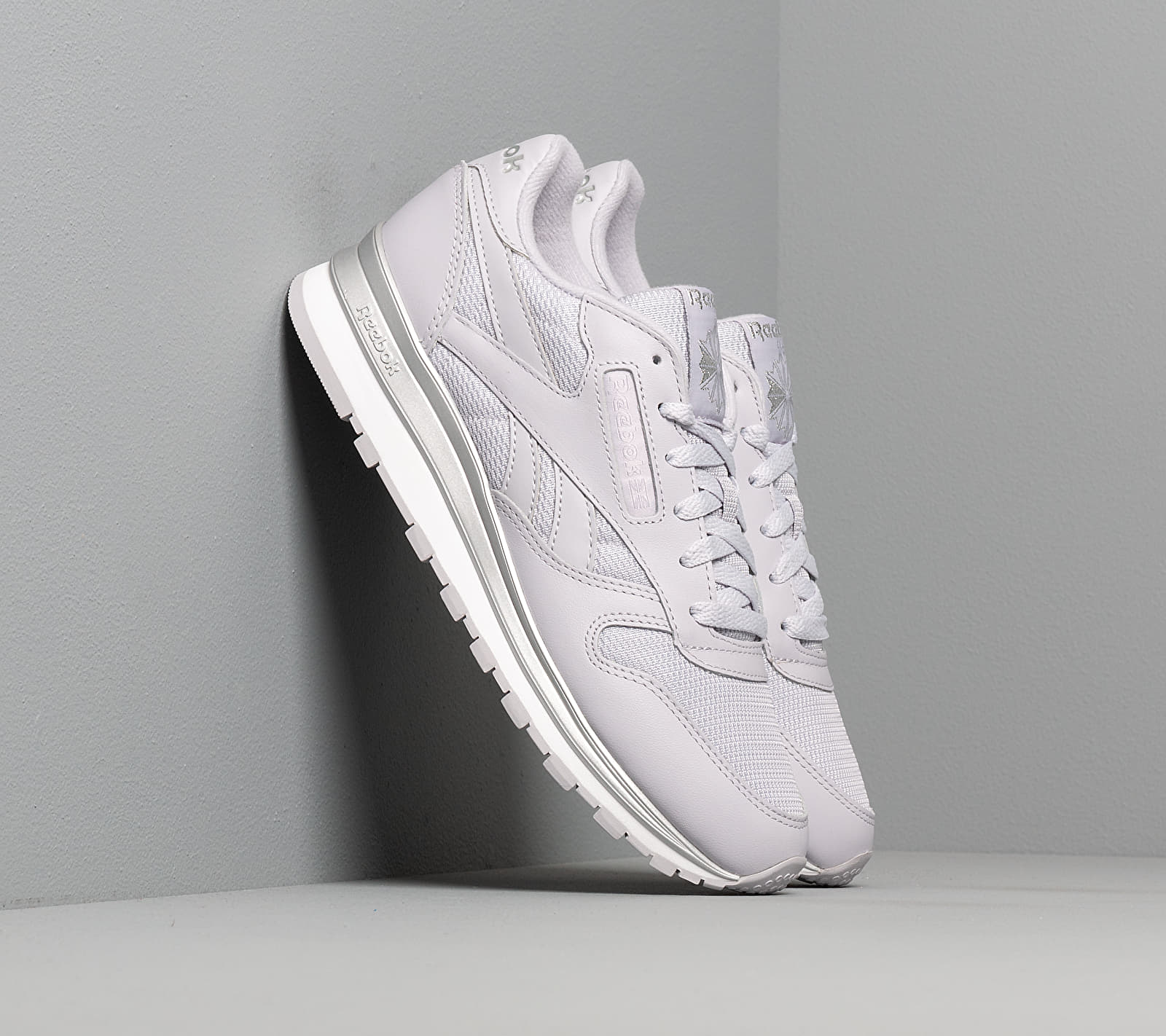 Reebok Classic Leather Sterling Grey/ Silver Metalic/ White EUR 41