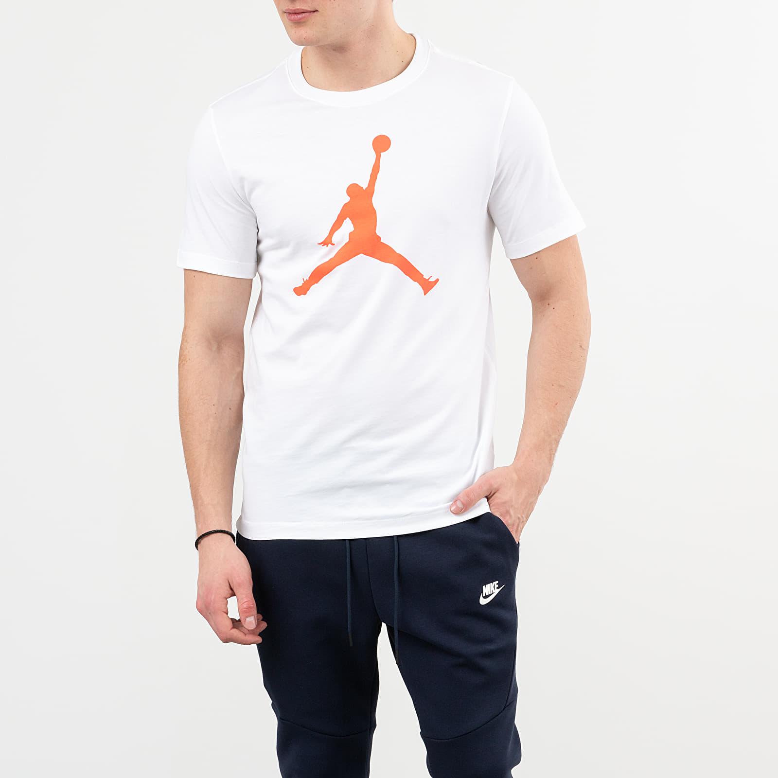 Pólók Jordan Jumpman Tee White/ Infrared 23