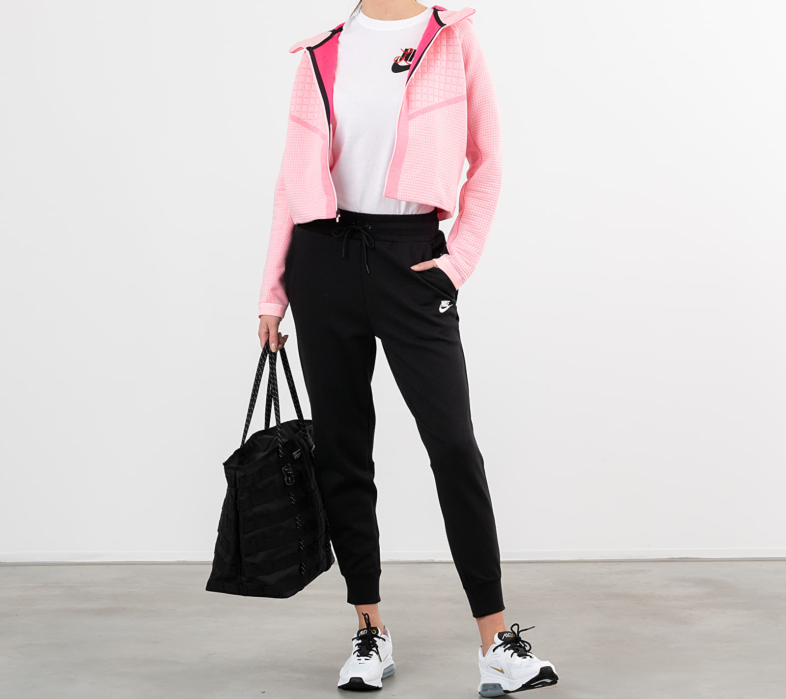 Nike Sportswear Tech Fleece Eng Fullzip Hoodie Arctic Punch/ White M