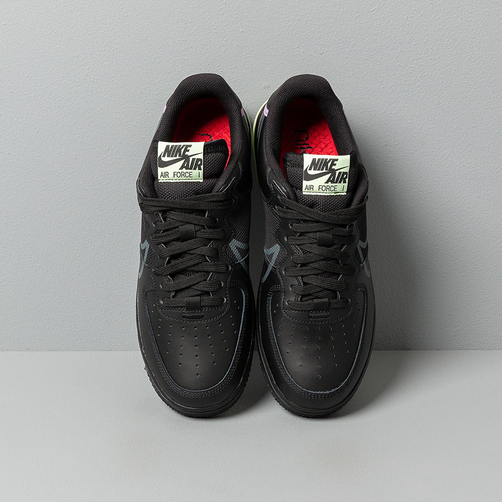 Nike Air Force 1 React Black Anthracite Violet Star Barely Volt | Footshop