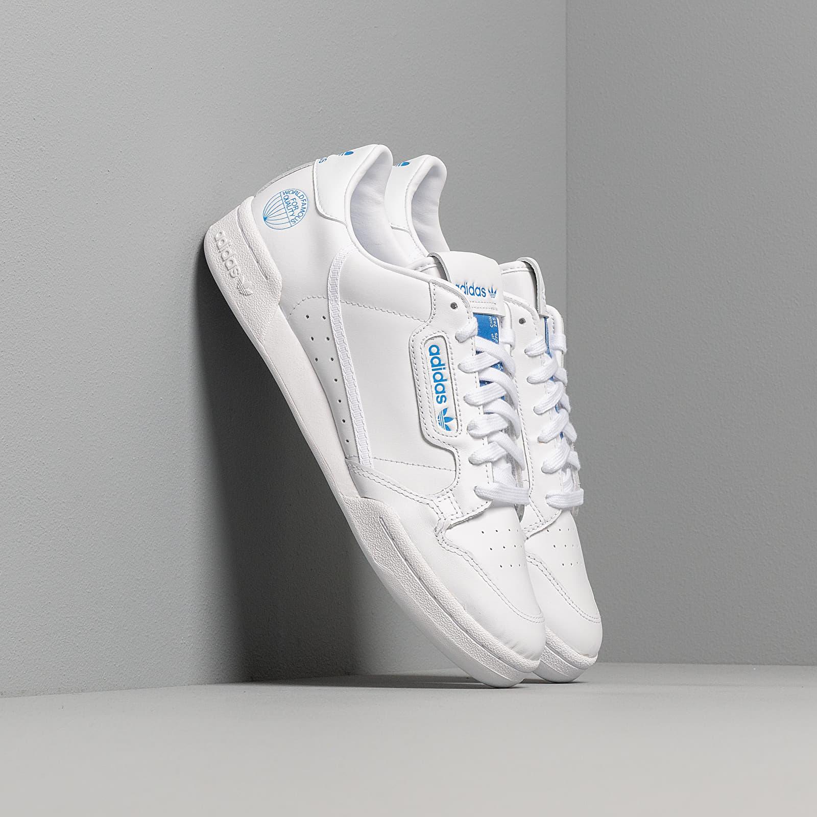 Scarpe e sneaker da uomo adidas Continental 80 Ftw White/ Ftw White/ Blue Bird