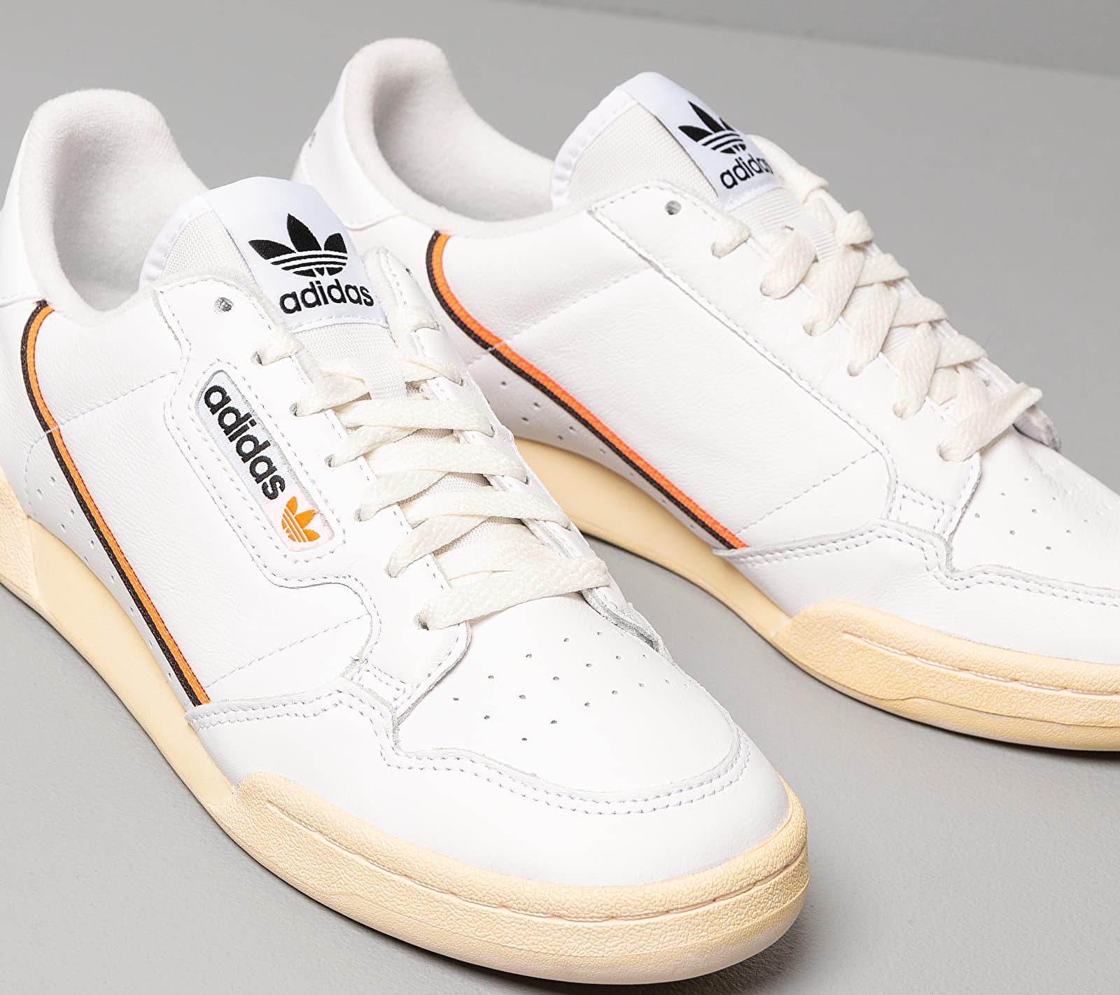 adidas Continental 80 Ftw White/ Core Black/ Solar Orange ...