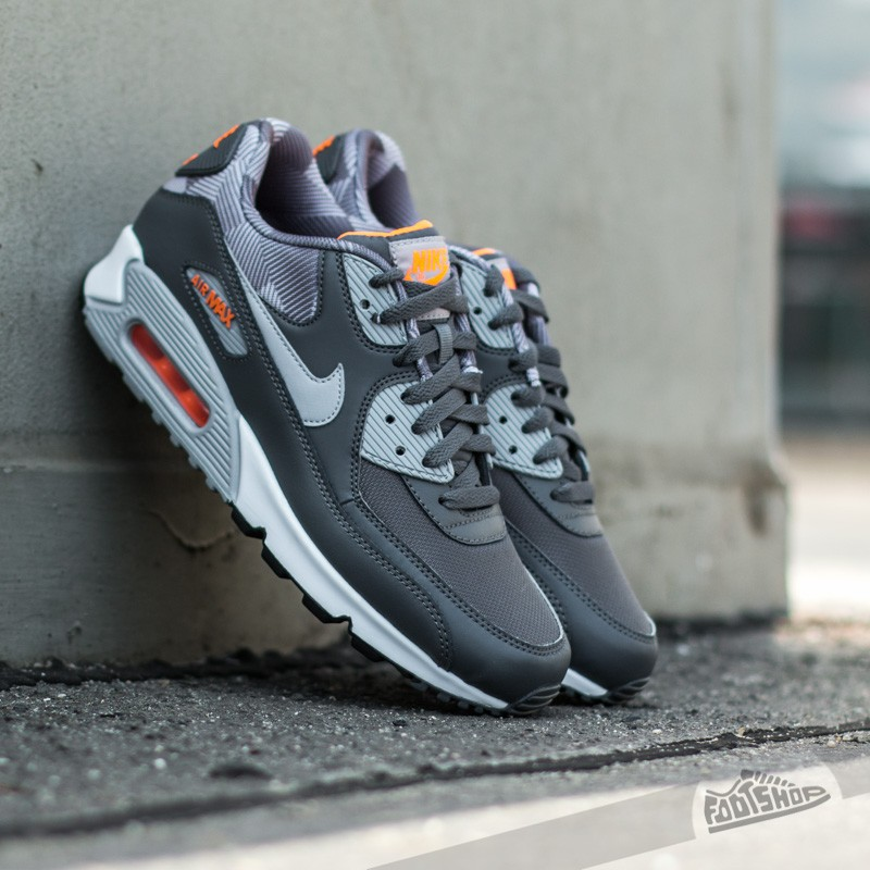 Nike Air Max 90 Print Dark Grey  Wolf Grey- White- Total Orange ... 22aeae1e4d