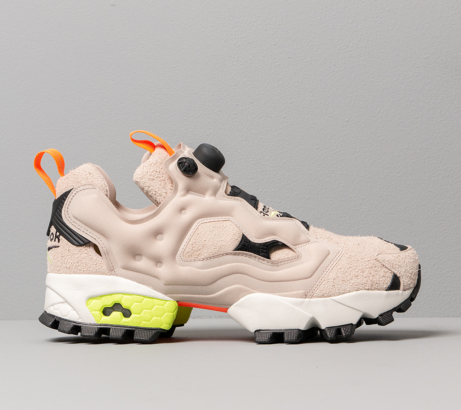 Reebok Instapump Fury Trail Modern Beige/ Black/ Neon Lime, Brown