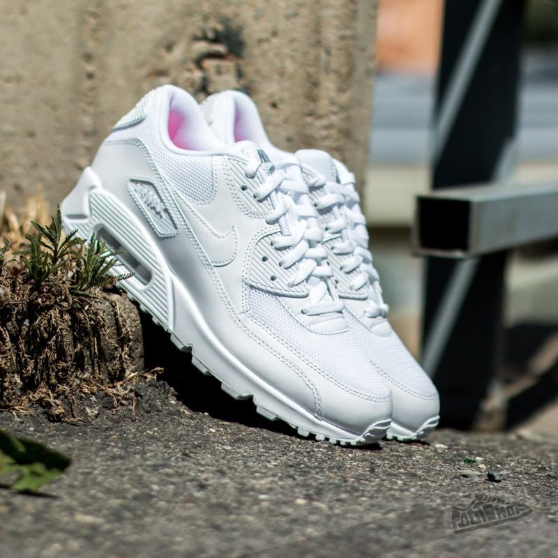 quality design e8e67 66df4 Nike WMNS Air Max 90 Premium White White-Metallic Silver  Fo