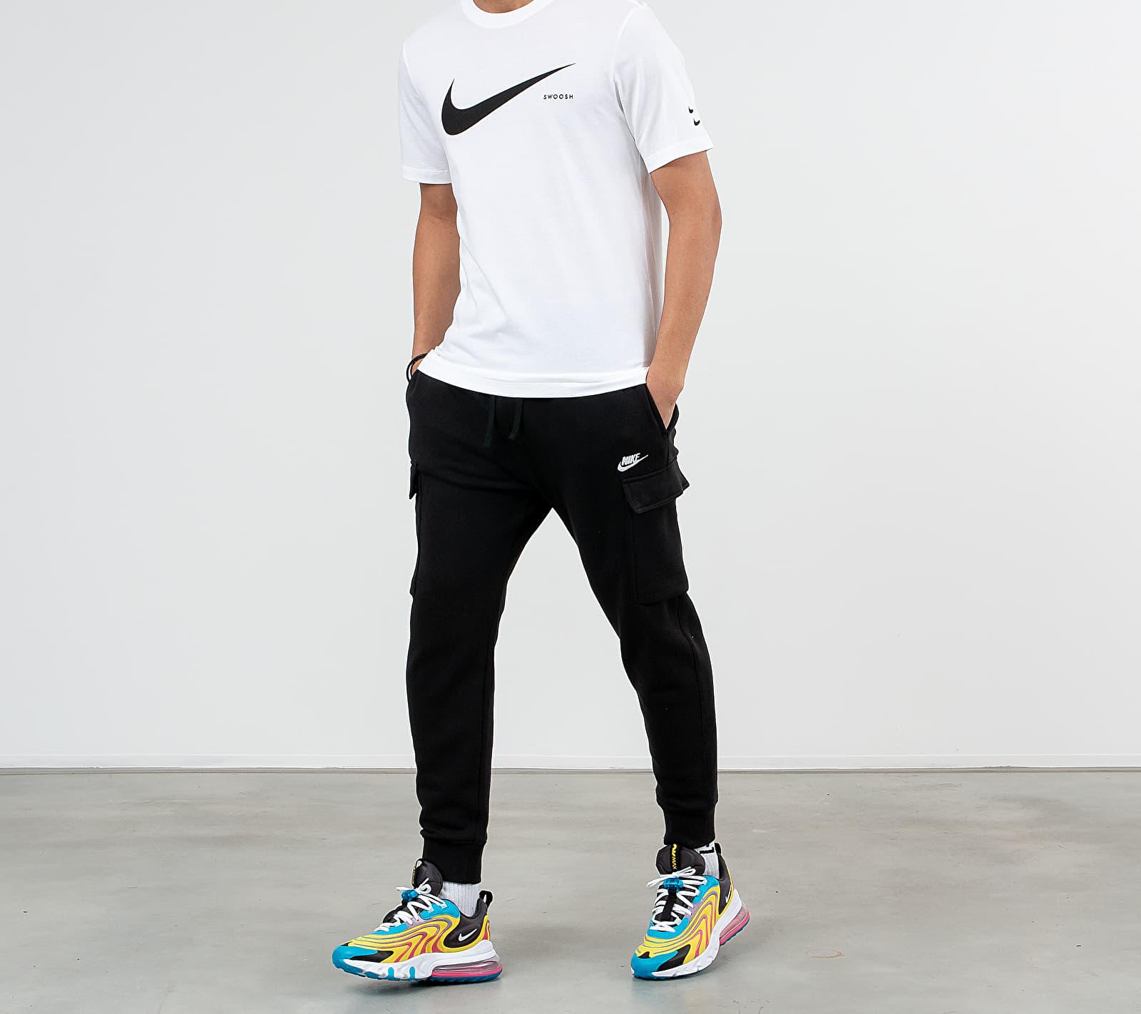 Nike Sportswear Swoosh Hybrid Tee White/ Black