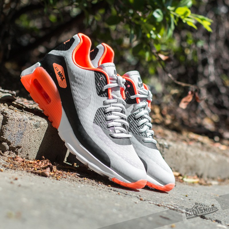 025e0ff4ab W Nike Air Max 90 Ultra BR Wolf Grey/ Black-Hyper Orange-White ...