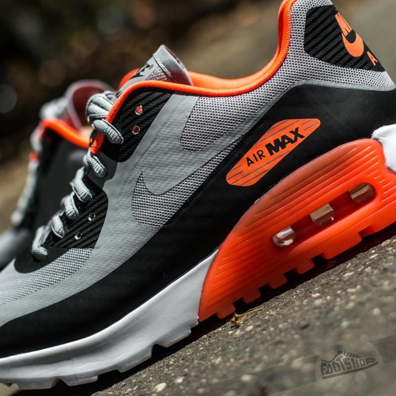 W Nike Air Max 90 Ultra BR Wolf Grey Black Hyper Orange