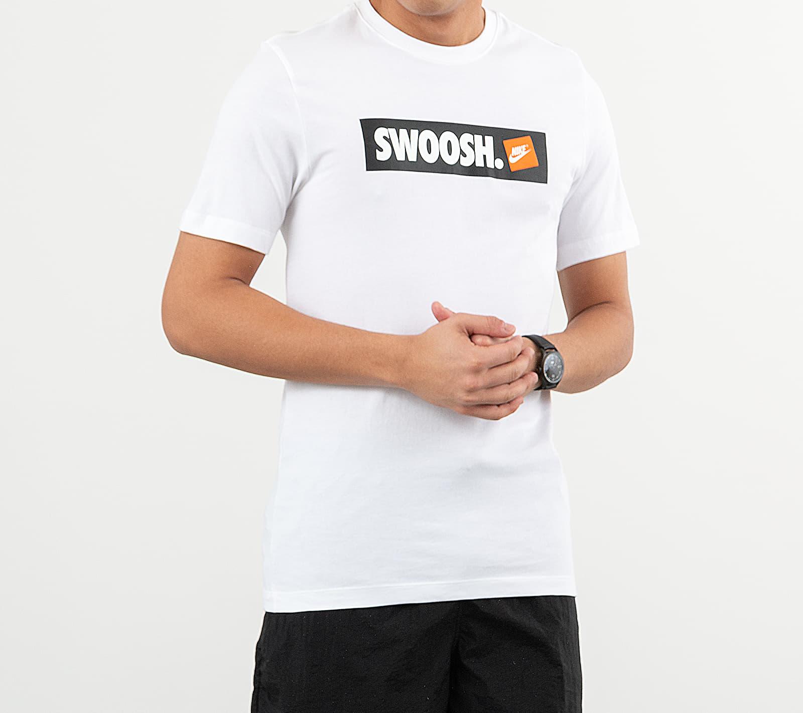 Nike Sportswear Swoosh Bumper Sticker Tee White/ White S