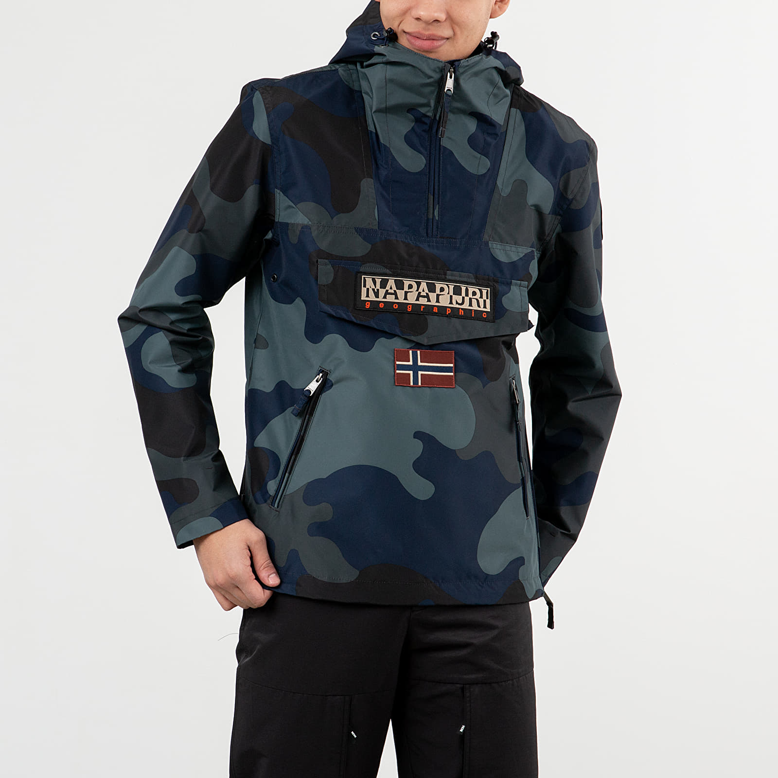 Bundy NAPAPIJRI Rainforest S Print Jacket Black Camo