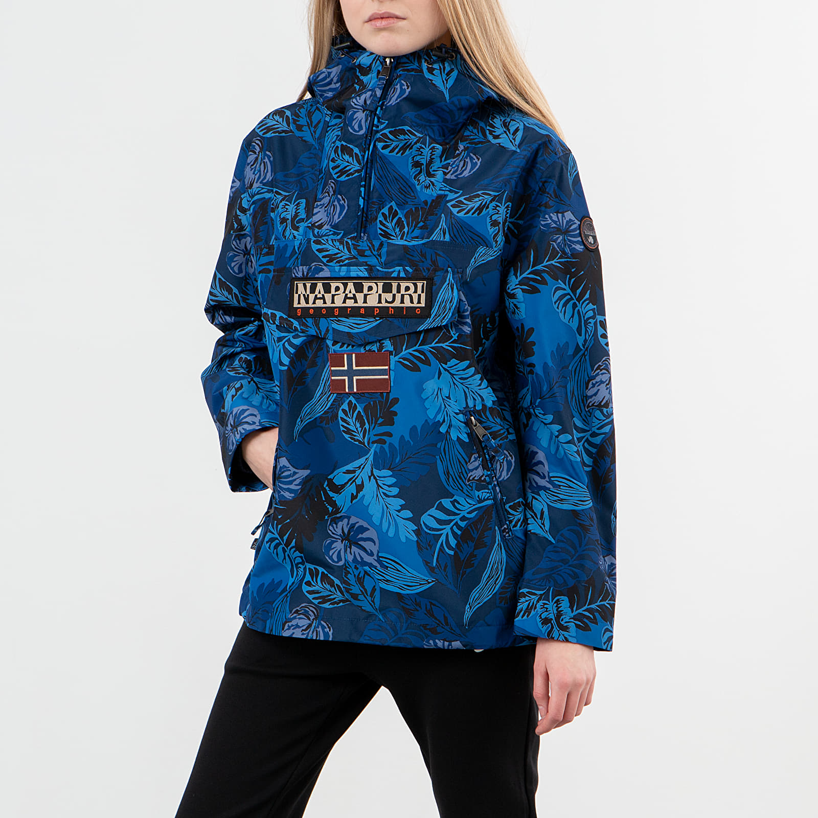 Bundy Napapijri Rainforest Jacket Blue Foliage