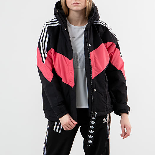 adidas Iconic Winter Jacket Black Craft Pink White