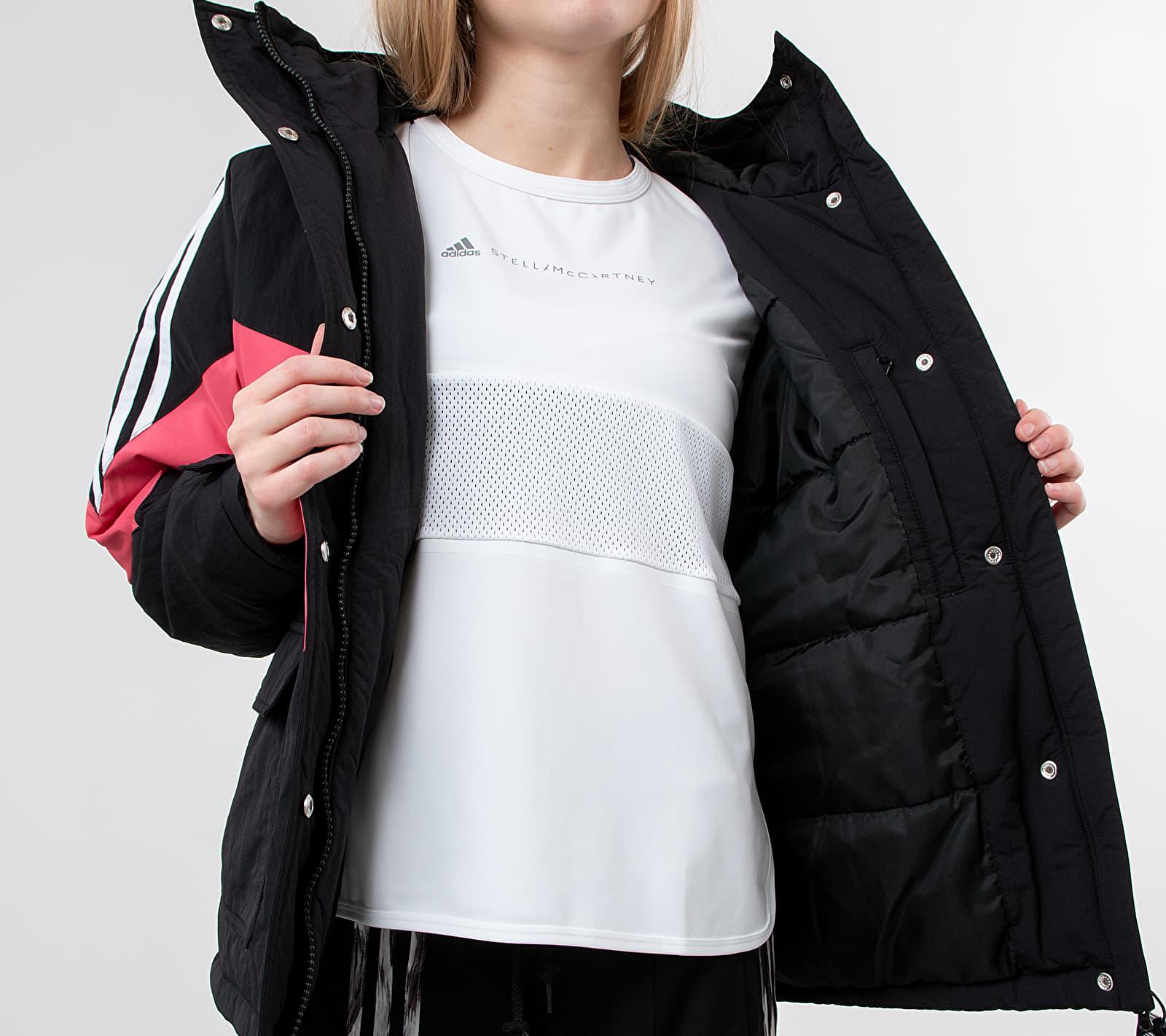 adidas Iconic Winter Jacket Black/ Craft Pink/ White