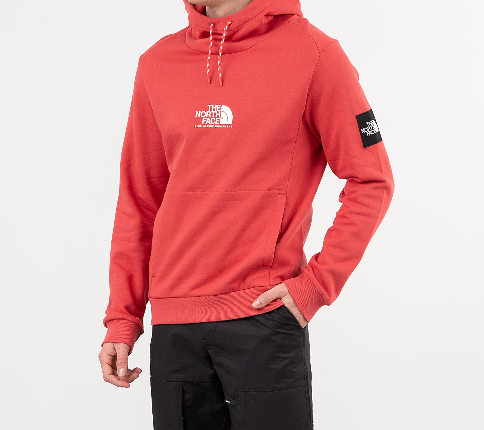 The North Face Fine Alpine Hoodie Sunbacked Red