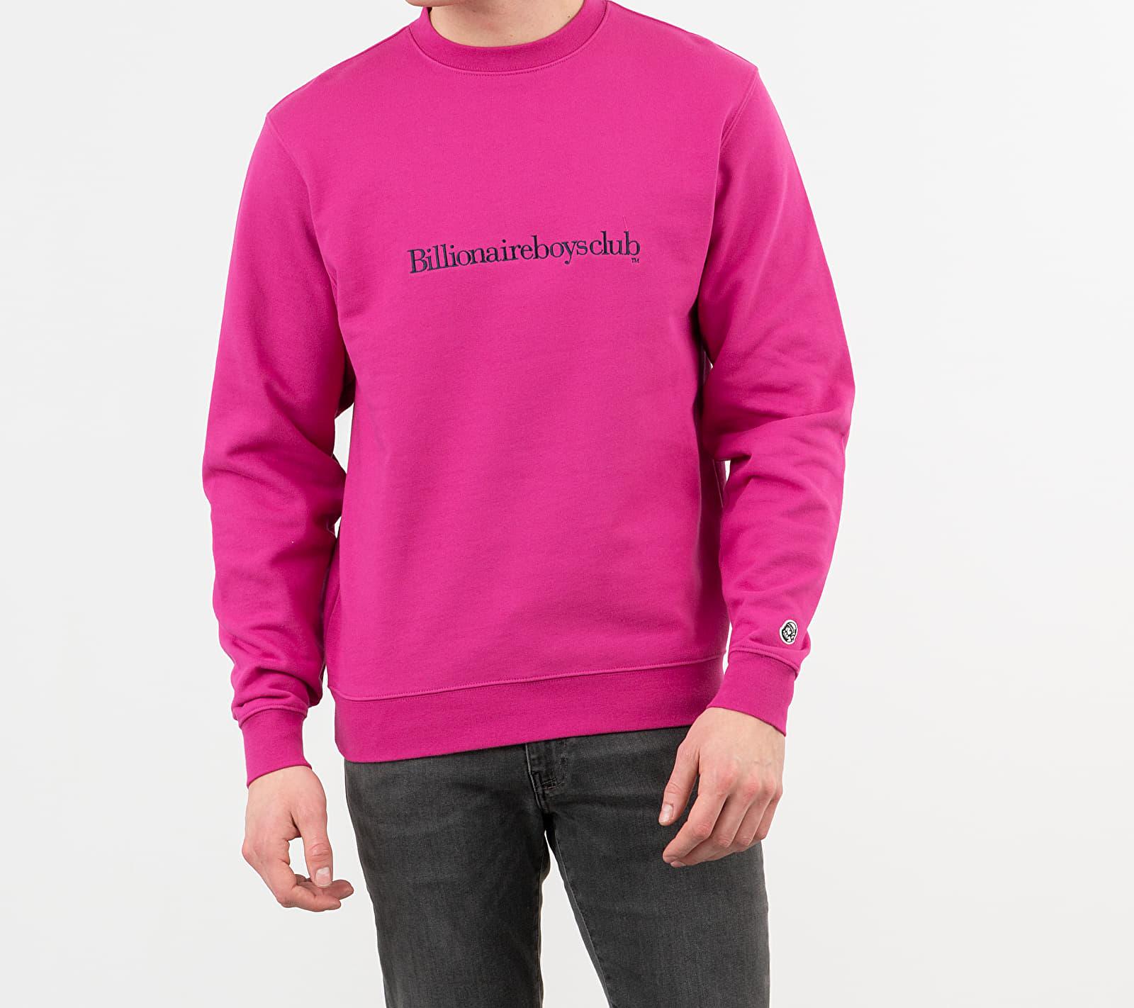 Billionaire Boys Club Embroidered Logo Crewneck Pink