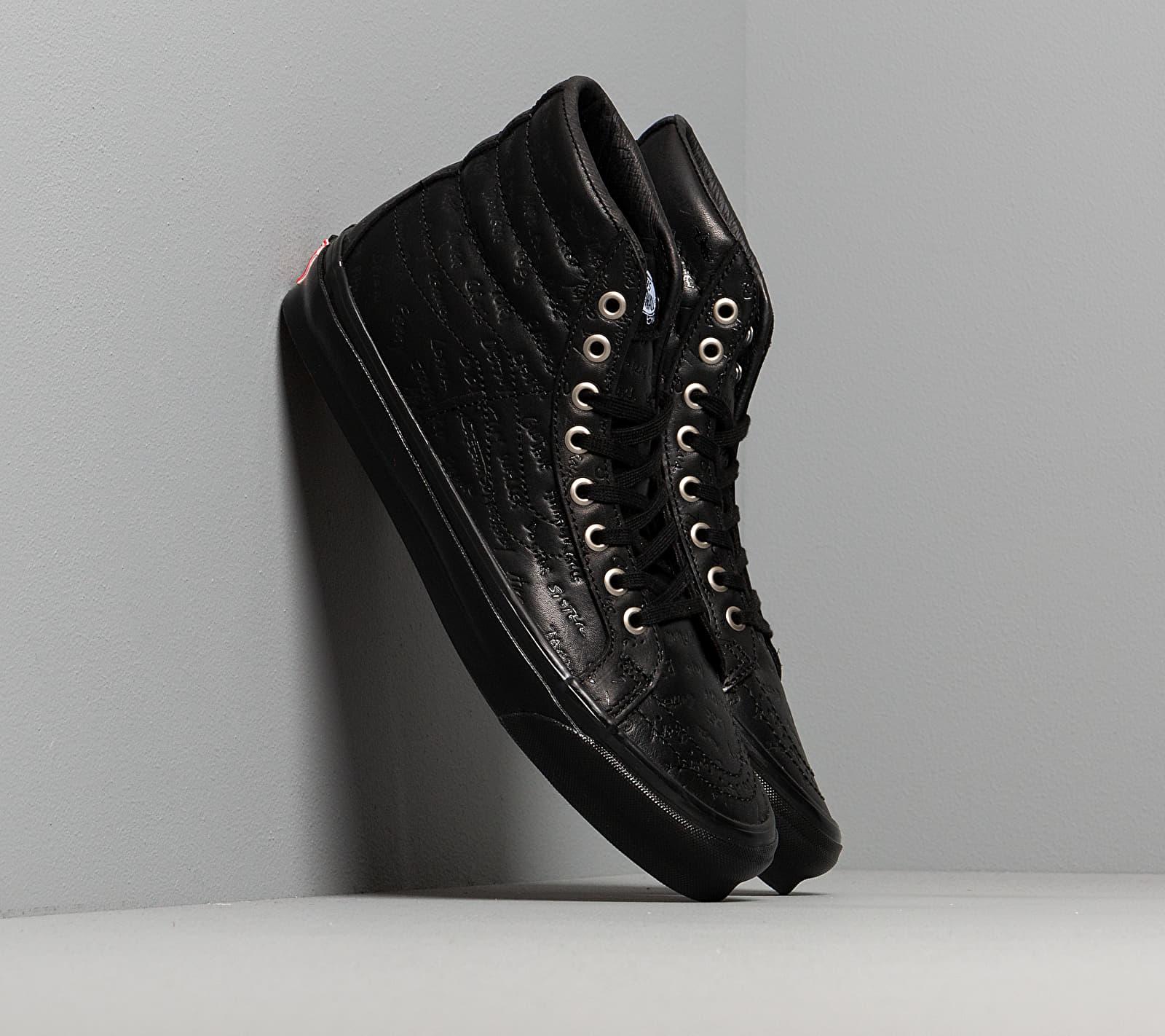 Vans OG Sk8-Hi LX (Jim Goldberg) Black Leather EUR 36